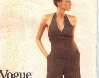DKNY halter jumpsuit & jacket pattern -- Vogue American Designer 1821