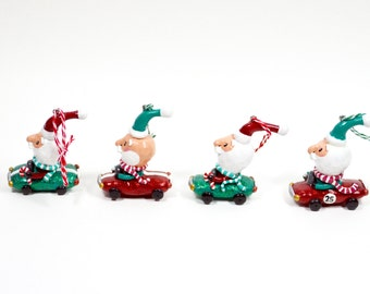 Santa Racer Ornament- Pick Your Favorite