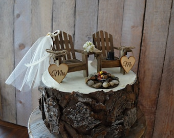 Adirondack Chair Wedding Cakes