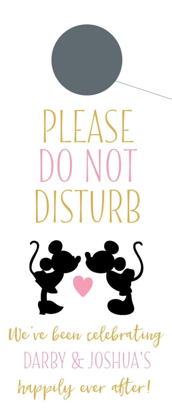 Do not disturb door hangers with mickey minnie for wedding - Diy do not disturb door hanger ...