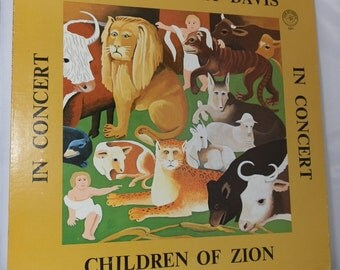 Vintage Vinyl LP Record Children Of Zion Reverend Gary Davis In Concert Collectible Nice Copy Album Blues Recordings DanPickedMinerals
