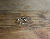 Triangle Ring - Silver Triangle Ring- Hypoallergenic Jewelry - Argentium Silver Ring - Geometric Jewelry - Open Triangle Ring - Handcrafted