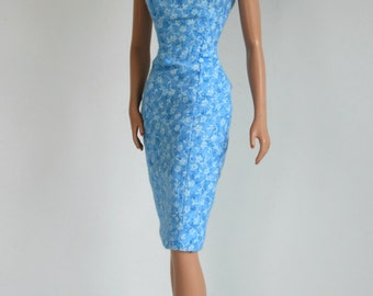 Blue and white dress with jacket for Barbie Silkstone Fashion Royalty Dolls