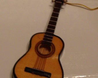 """Guitar Orn, 4"""" Acoustical Guitar,  no sound, Just a Great Look"""