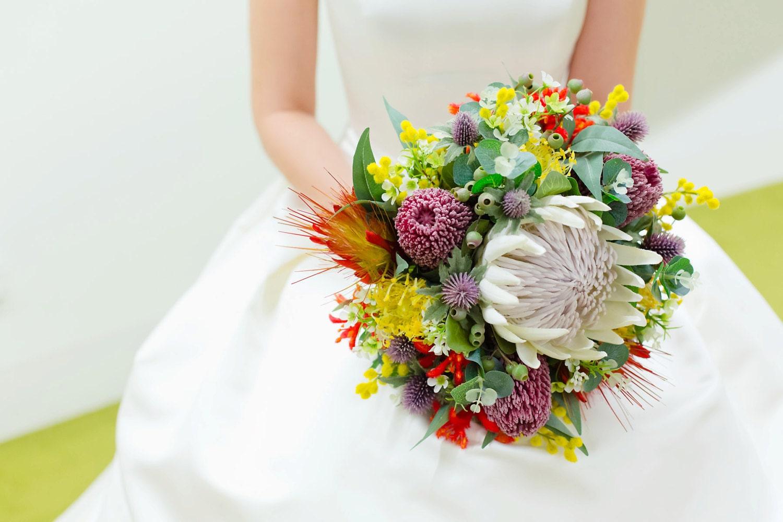 Native Rustic Wedding Bouquet Australian & South African