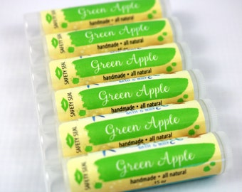 Green Apple Lip Balm . Natural Lip Balm . Apple . Lip Butter