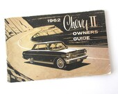 1962 Chevy II Owners Guide Booklet, Classic Car information and illustrations