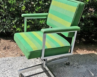 Mid Century Modern Chair, Retro Desk Chair, Mid Century Office Chair