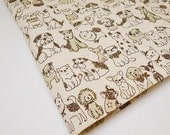 Dog Fabric, Puppy Fabric, Animal Fabric, Tablecloth Fabric, Laminated Brown Fabric