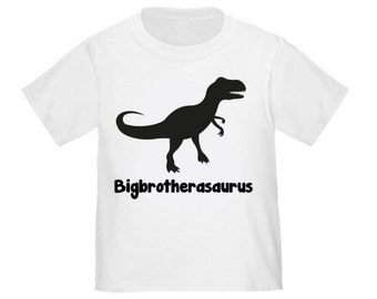 Big Brother Dinosaur T-Rex T-Shirt Boys Big Brother Shirt