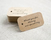 Thank You for Sharing Our Special Day Wedding Gift Tags - Rustic Wedding Favor Tags - Custom Wedding Favor Tags- Set of 40 (Item code: J285)