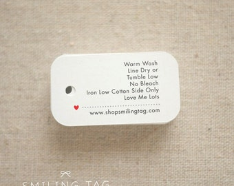 Personalized  Care Labels Instructions Tags - Etsy Product Tag - Clothing Care Tag  - Etsy Shop Labels Hang Tag- Set of 40 (Item code: J253)