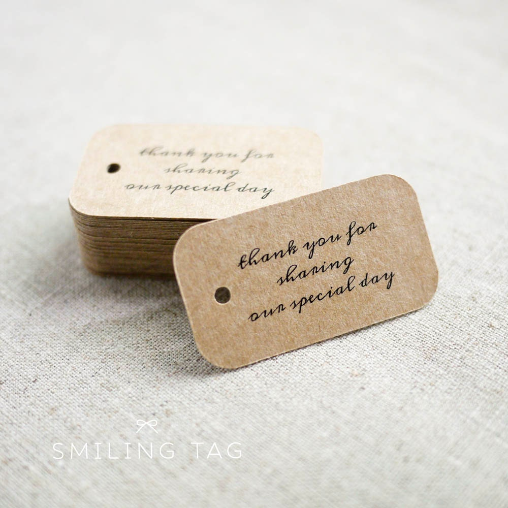 Thank U Wedding Gifts : Thank You for Sharing Our Special Day Wedding Gift Tags
