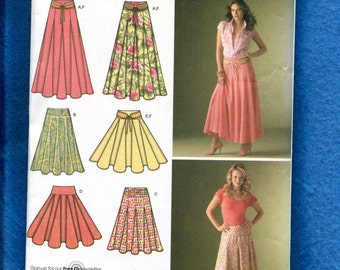 Simplicity 4188 Trendy Gypsy Skirt with Godet for Extra Flare Size 8