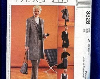 McCalls 3328 Power Wear for Powerful Women Size 18  20 22 UNCUT
