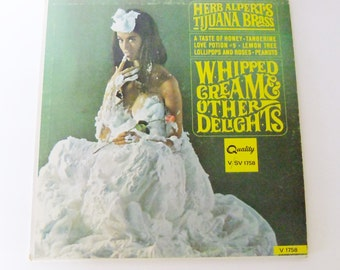 "Herb Alpert's Tijuana Brass, Whipped Cream & Other Delights, 12"" LP, vintage vinyl, vintage record"