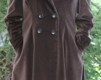 brown velour coat