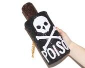 Glitter Poison Bottle Clutch Handbag