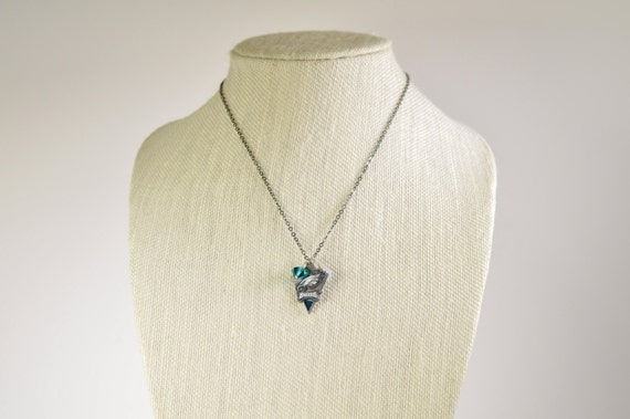 Eagles Charm and Crystal Necklace