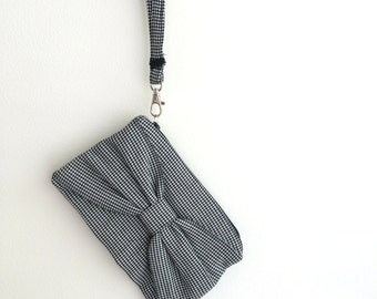 Bow Clutch, Houndtooth *SALE*
