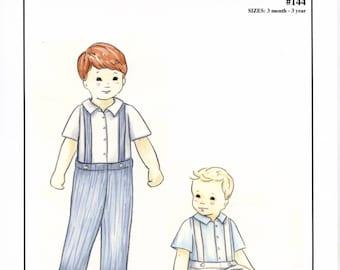 Boy's Suspender Pants Pattern / Toddler Pants / Long Pants / Short Pants / Shirt Pattern / by Creations by Michie #144