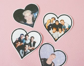 90s Boy Band Celebrity Iron-On Patches
