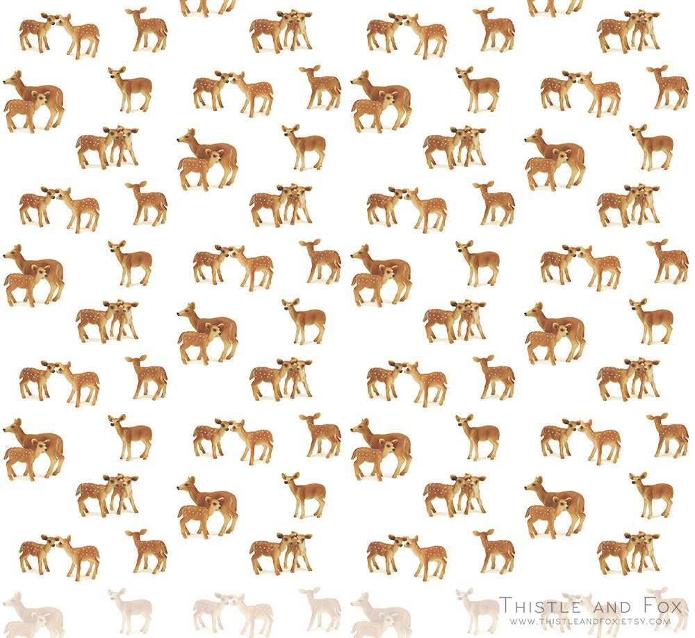 Fawn and doe deer nursery fabric by the yard cute for Cute baby fabric prints