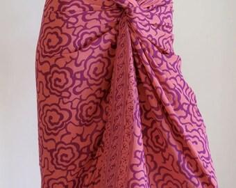Flower Sarong, Pareo, Wrap, Cover up E