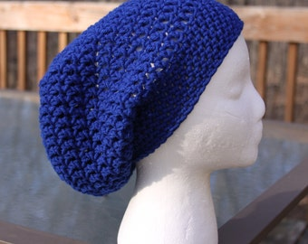The Sparrow Slouchy Beanie in Royal Blue - Ready to Ship