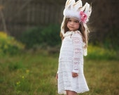 Feather Headdress - Wild One - Indian Headdress - Feather Crown - Girls  Feather Headdress.
