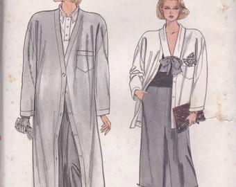 80s Coat, Jacket, Pants & Skirt Pattern Vogue 9201 Sizes 12-16 Uncut