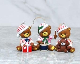 Vintage Teddy Bear Christmas Ornament