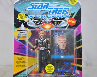 Vintage Star Trek The Next Generation Commander Sela Action Figure Half Human Half Romulan Commander Playmates 6070 6056 1993 - Enterprise