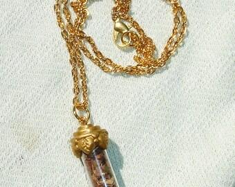 Mini Spell Bottle Necklace for Good Luck