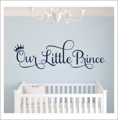 our little prince wall decal vinyl decal prince nursery decal. Black Bedroom Furniture Sets. Home Design Ideas
