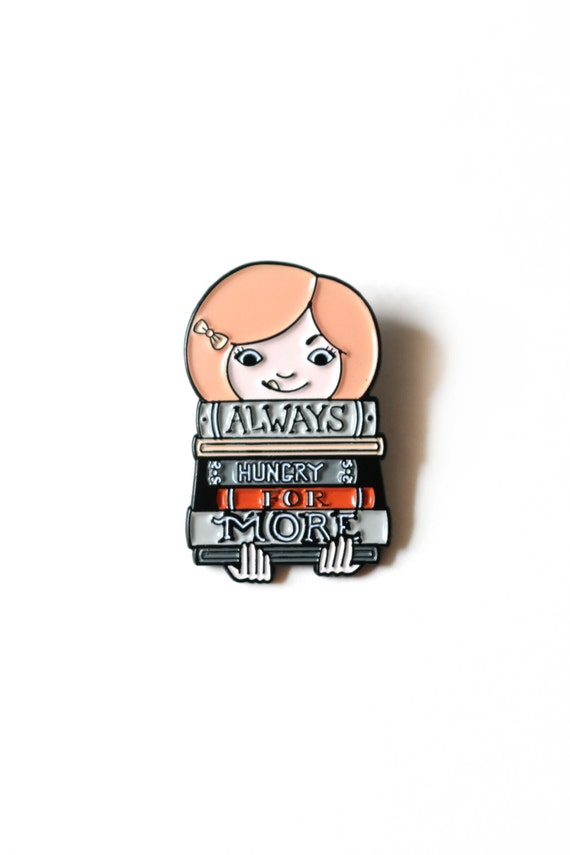 Always Hungry for More Books Pin