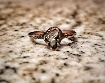 The Elara - Meteorite Ring - Stacker Ring - Alternative Engagement Ring