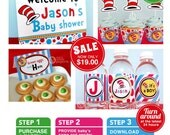 Party Ville Baby Shower Package Personalized FULL Collection Set - PRINTABLE DIY - F2a