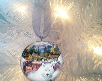 Wolf #5 Christmas Tree Ornament