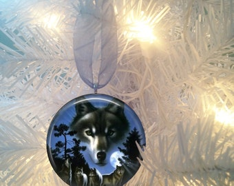 Wolf Spirit #9 Christmas Tree Ornament