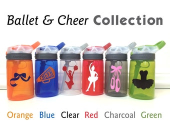 14oz Contigo Water Bottle for Kids, Personalized Water Bottle, Cheer Water Bottle, Ballet Water bottle, Ballet Birthday Party Favors