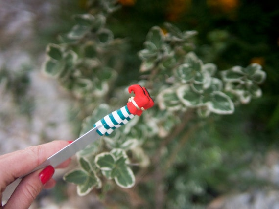 SALE! Christmas Elf bookmark. Red shoes.