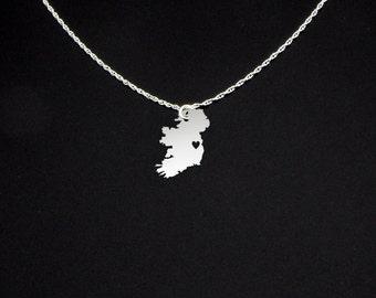 Ireland Necklace - Ireland Jewelry - Ireland Gift