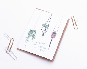 I Love You Hanging with You - Friendship Love Card