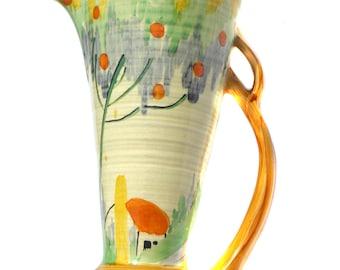 1930s Wadeheath Art Deco Vase Vintage Yellow Vase Vintage Vase Art Deco Vase Vintage Housewares Vintage Home Decor Vintage Antique Vase