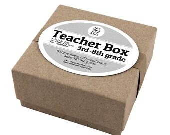 Teacher Box  3rd - 8th Grade, Teacher Appreciation, Teacher Time Fillers, Gift for Teacher, End of Year Teacher Gift, Unique Teacher Gift