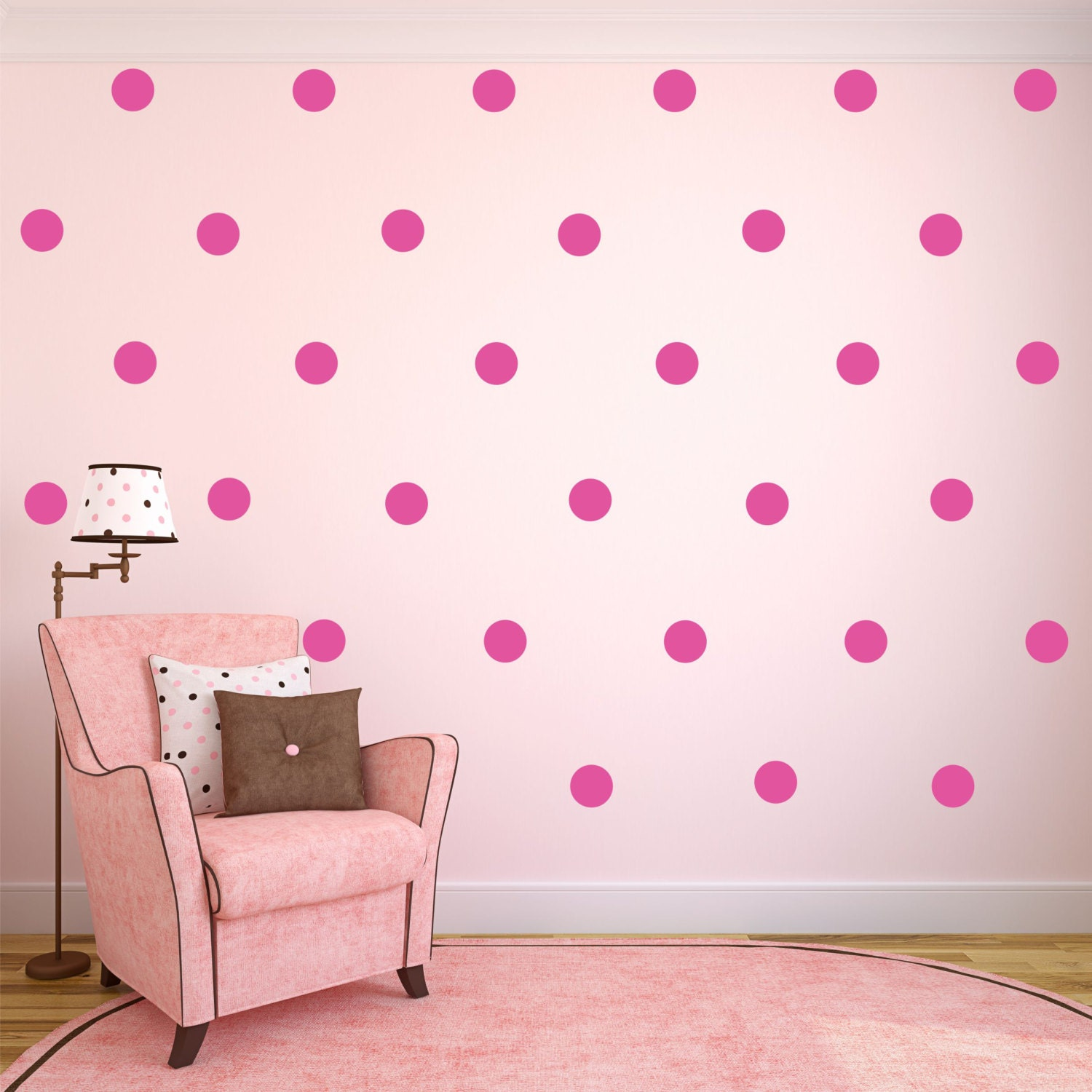 polka dot decals polka dot wall decor polka dot wall stickers. Black Bedroom Furniture Sets. Home Design Ideas