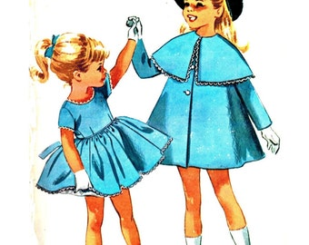 McCall's 6701 Gorgeous Vintage 60s Toddler and Girls Party Dress and Coat - Helen Lee Design Sewing Pattern Size 2, 3 0r 5 Your Choice