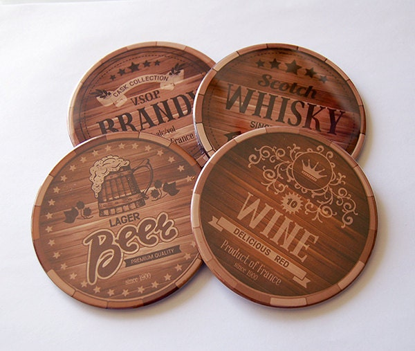 Man Cave Coasters : Drink coasters barware man cave decor gifts for