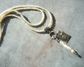 Handcrafted, Pearl Charm Necklace, Sterling Silver, Long Necklace